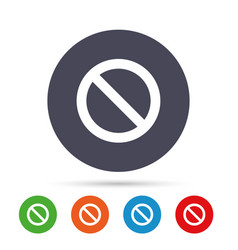Stop sign icon prohibition symbol vector