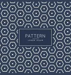 Stylish hexagonal pattern template vector