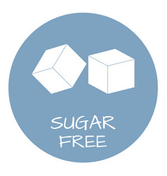 Sugar free label food intolerance symbols vector