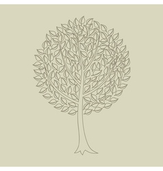 Tree outline vector image vector image