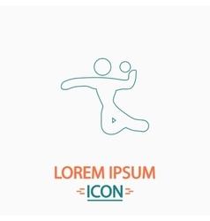 Volleyball computer symbol vector