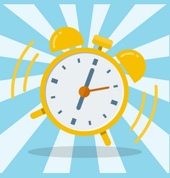 wake up alarm clock flat design vector image vector image