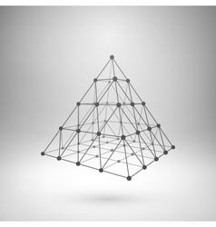 Wireframe mesh polygonal pyramid vector