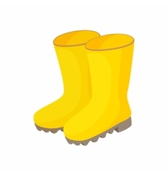 Yellow rubber boots icon cartoon style vector