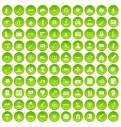 100 antiterrorism icons set green circle vector