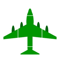 Airplane symbol icon on white vector image