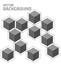 abstract cubes vector image