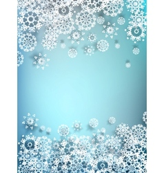 Decorative paper snowflake background eps 10 vector