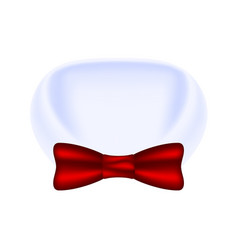 collar of shirt and bow tie vector image