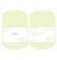 Decorative wedding inwitation vector
