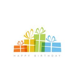 Happy birthday with presents vector