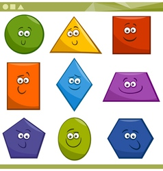 Cartoon basic geometric shapes vector