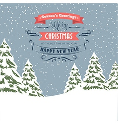 Retro Christmas - holidays type design vector image