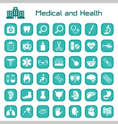 Medical and health big icon set vector