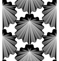 Monochrome stripy endless pattern art continuous vector