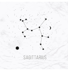 Astrology sign sagittarius on white paper vector