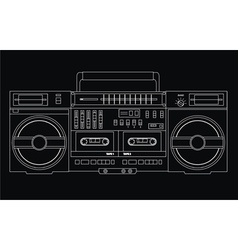 Isolated ghetto blaster vector