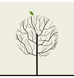 Wood tree vector image