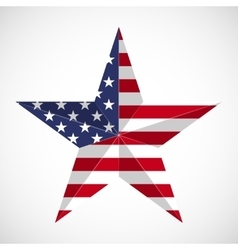 Star in national flag usa vector