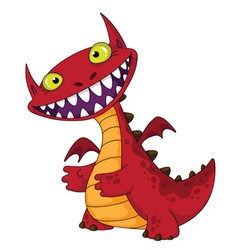 Laughing dragon vector