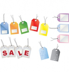 sales tags vector image
