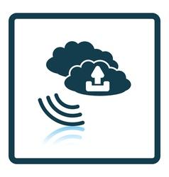 Cloud upload icon vector