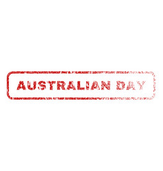 Australian day rubber stamp vector