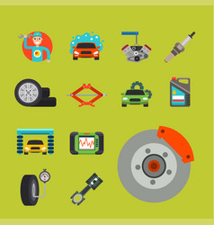 auto car repair service symbols isolated shop vector image vector image