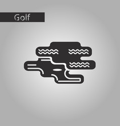 Black and white style icon golf hole vector
