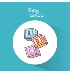 Blocks of back to school design vector