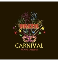 Brazilian Carnival logo and emblem vector image vector image
