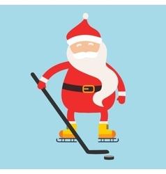 Cartoon Santa winter sport vector image