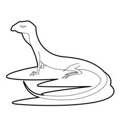 Curious lizardicon outline style vector