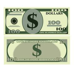 dollar greenbacks icon realistic style vector image