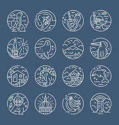 ecuador symbols icons vector image