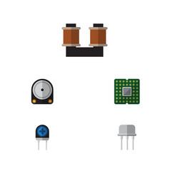 Flat icon device set of unit coil copper vector