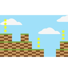 Game level background vector image vector image