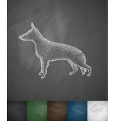 German shepherd icon vector