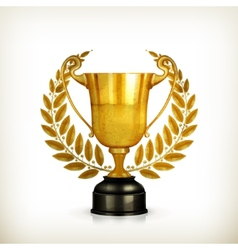 Golden trophy old-style isolated vector image