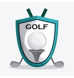Golf design Sport icon Flat vector image