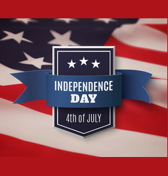 Independence Day 4th of July background vector image