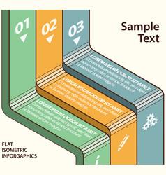 isometric flat design infographics vector image
