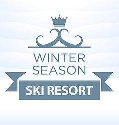 logotype winter season ski resort on snow vector image vector image