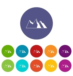 Mountains set icons vector image