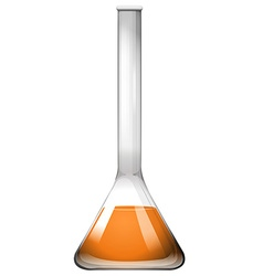Orange liquid in glass tube vector image vector image