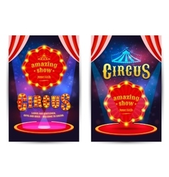 Poster for the circus vector image vector image