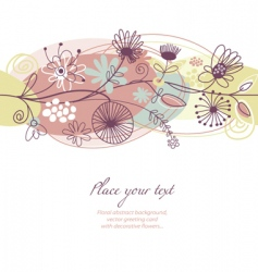 romantic floral illustration vector image