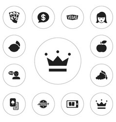 Set of 12 editable game icons includes symbols vector
