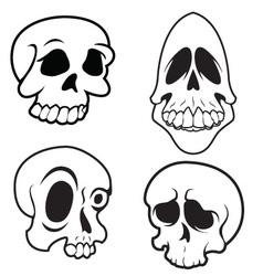 Skulls 9 vector image vector image