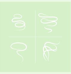 smell aroma sign set vector image vector image